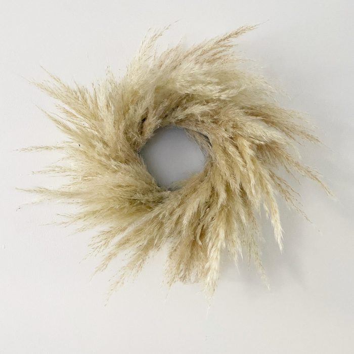 Mini Cream Pampas Grass Wreath