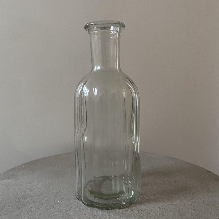 Glass Bottle Vase 19cm