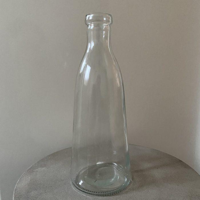 Glass Milk Bottle Vase 27cm