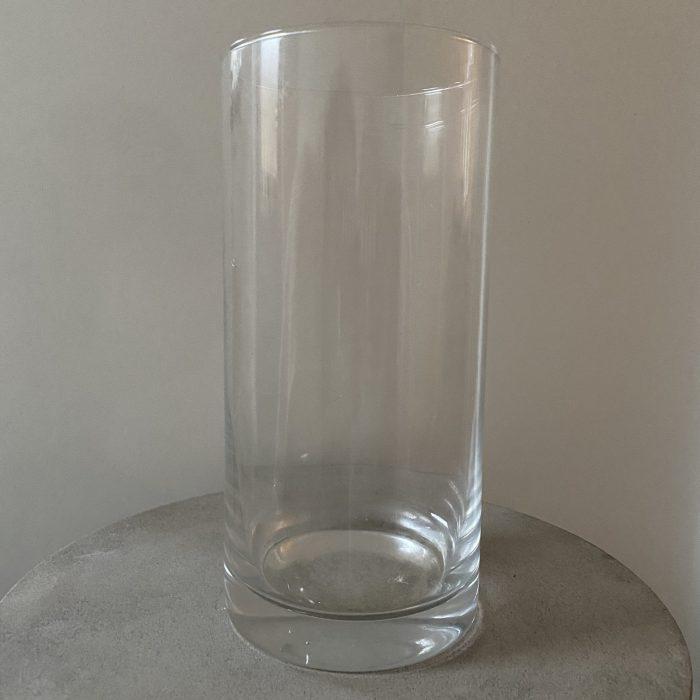 Glass Cylinder Vase 25cm